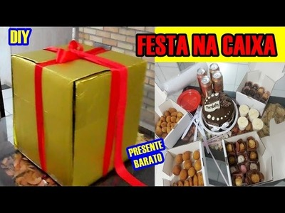 DIY: FESTA NA CAIXA| PRESENTE BARATO- Paula Franssinette