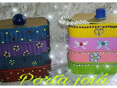 DIY ( PORTA JÓIAS ) RECICLANDO LATAS  DE SARDINHAS.