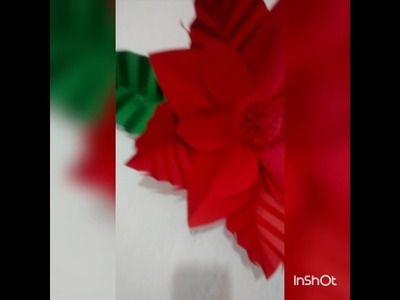 Flores de Papel para Natal