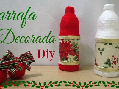 Garrafa decorada para o Natal | Diy Especial de Natal #4