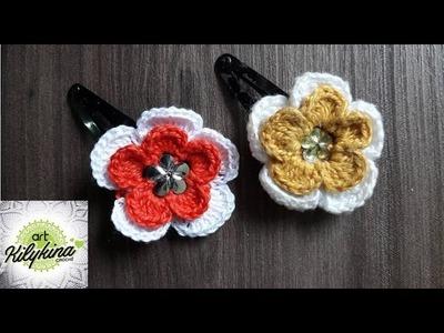 TIC TAC c. flores em crochê