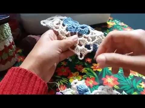 Video aula 2; motivo flor simples para cortina  e como fazer a emenda direta.