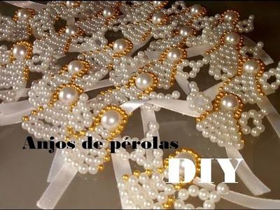 Anjos de pérolas DIY