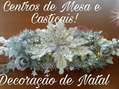 DIY-Arranjos de Natal  II - Centros de Mesa e Castiçais
