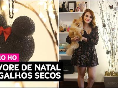 DIY: árvore de Natal de galhos secos com enfeites da Disney • Karol Pinheiro