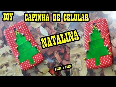 DIY CAPINHA DE CELULAR DE NATAL Passo a Passo- Paula Franssinette