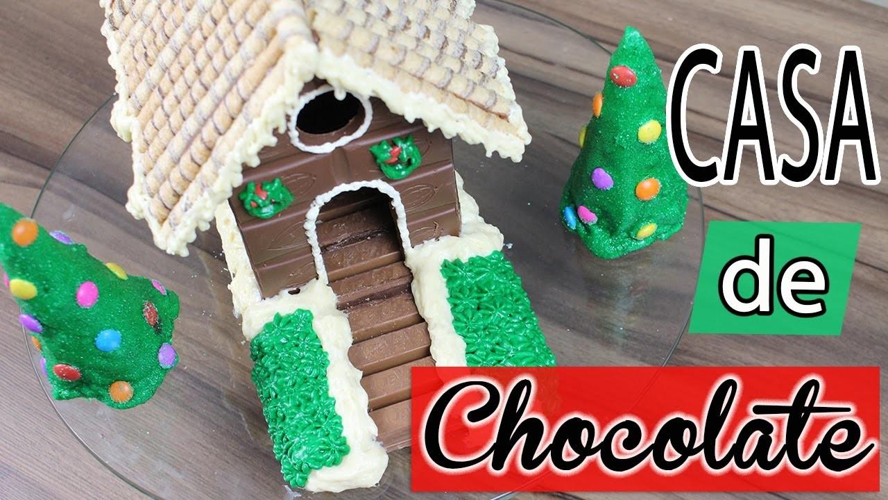 DIY Casa Comestível de Chocolate | Tchuba