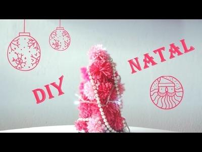 DIY DE NATAL ❤ Mini Árvore de Pompom