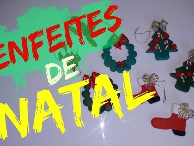 DIY - Enfeites de NATAL em Biscuit