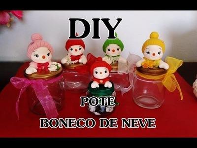 DIY PARA O NATAL #2 - POTE BONECO DE NEVE