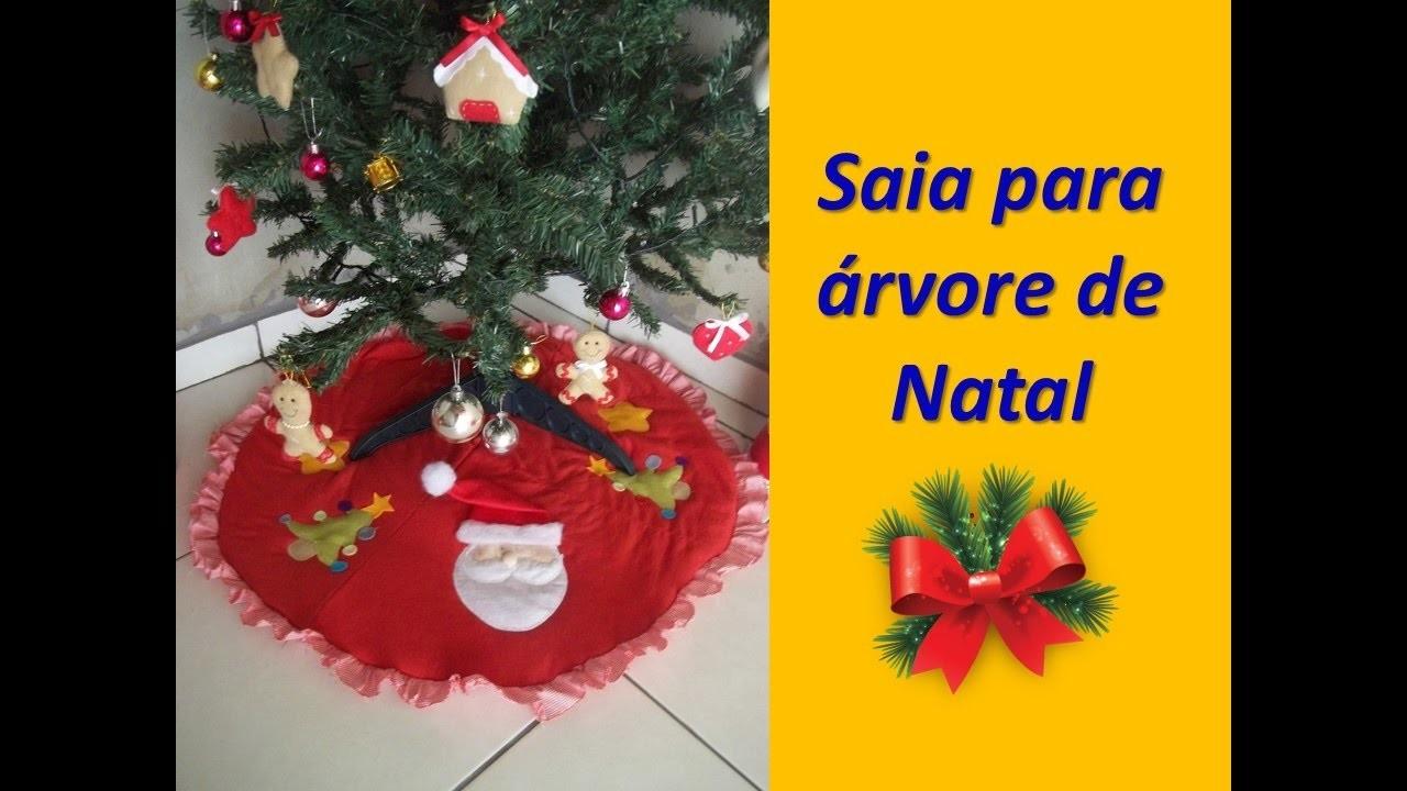 Diy Saia para arvore de Natal | Sarah Silva |
