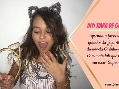 DIY: TIARA DE GATINHO (CARINHA DE ANJO) COM MATERIAIS QUE VOCÊ TEM EM CASA! - LAURA MINGARELI