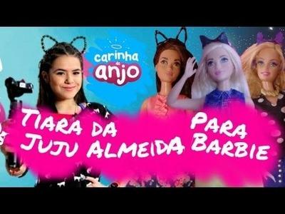DIY tiara de gatinho da Juju Almeida(carinha de anjo) para bonecas-Dica de Boneca