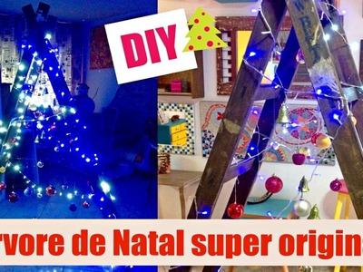 Natal #3 | DIY | Como fazer árvore de Natal criativa, com escada usada