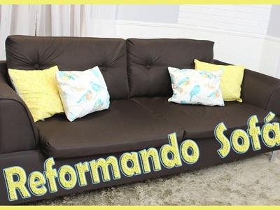 Reforma do sofá, como trocar o forro em casa Diy, faça você mesmo.