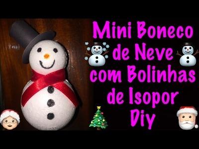 Como fazer mini boneco de neve-Diy |Faça você mesmo|