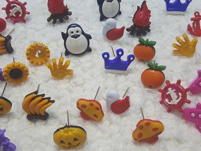 DIY: Brincos feito com botões