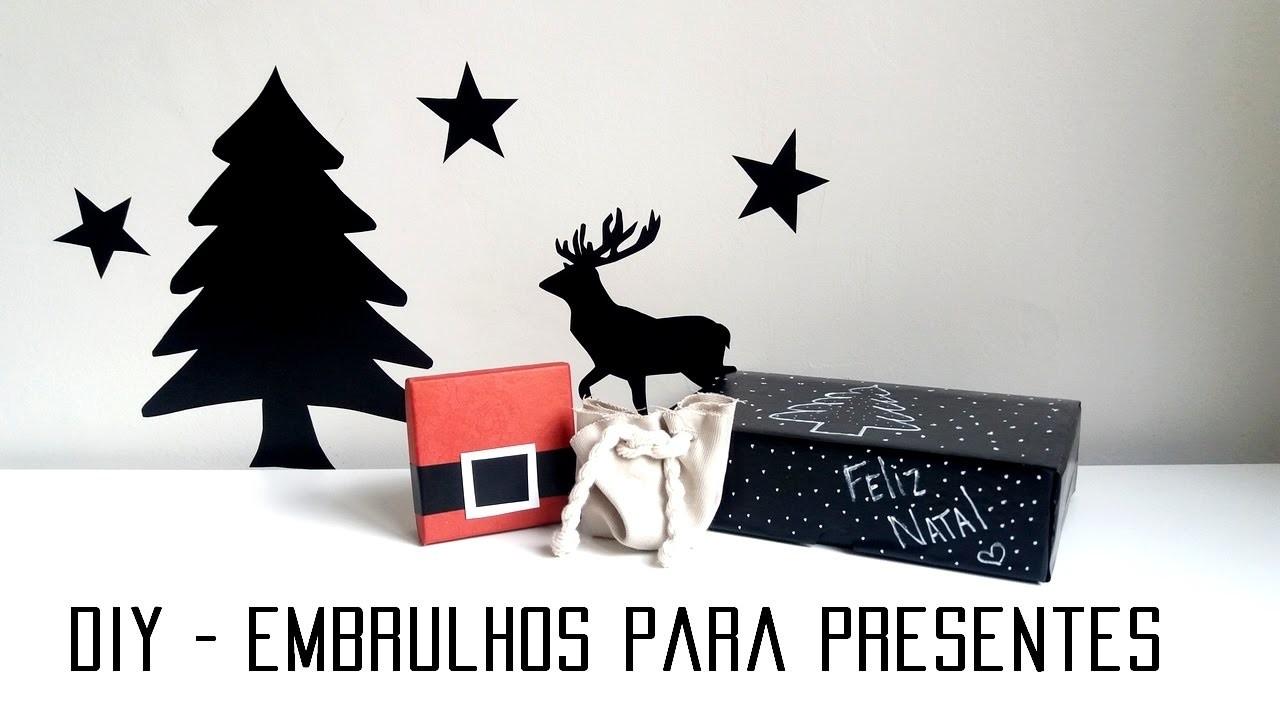 DIY - Embalagens Criativas pros Presentes de Natal