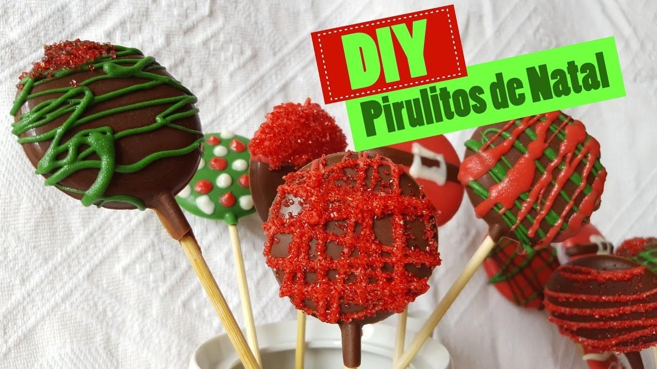 DIY - Pirulitos de chocolate para o Natal