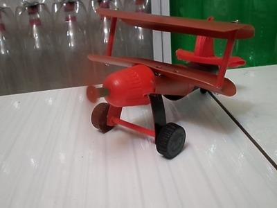 Como fazer avião de pets e latinhas '' tutorial 01 ''