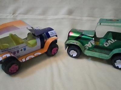 Como Fazer  Carrinho Jipe Toyota de Lata de Tinta. Tutorial 01.