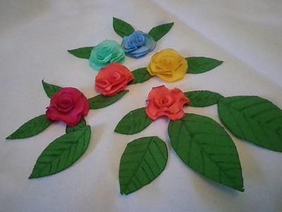 Como Fazer Folha de Tecido para Rosa