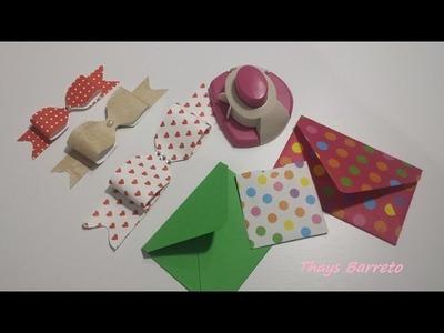 Como usar o furador TEC para fazer Laços e envelopes