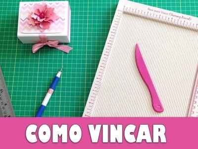 Como vincar papel - Scrapbook