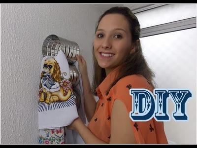 Organizador de pano de prato - Reutilizando latas de leite 2 - Maratona DIY #06