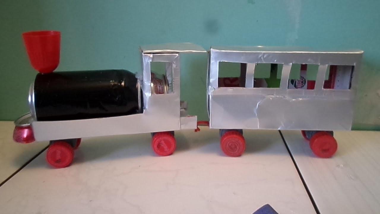 '' Tutorial 02'' Trenzinho de caixa de Leite Pelo Avesso.