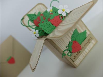 Tutorial - CARD IN A BOX - Caixa de Morangos Fácil - La Pareja Creativa