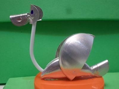 ''Tutorial'' Ganso de latinha. Latas de aluminio Ganso