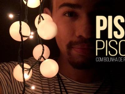 DIY BIG ideias: Pisca-pisca com bolinhas de ping-pong