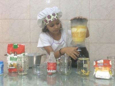 """DIY: BOLO DE MILHO COM LEITE CONDENSADO """"SEM GLÚTEN"""" feito no liquidificador - por Maite Andrade"""