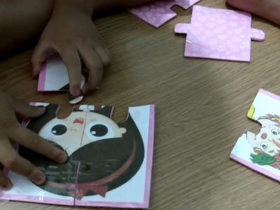 DIY - Brinquedos educativos para crianças de 2 a 3 anos - QUEBRA CABEÇA DE EVA