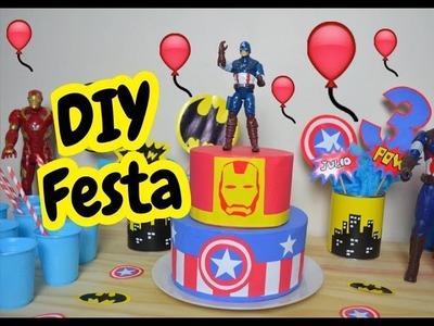 DIY Decoração Festa Infantil Super Heróis • Por Estilo Jacky de Ser