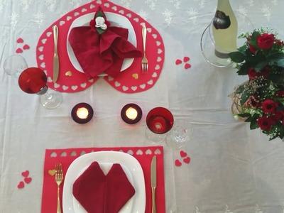 DIY- Dia dos Namorados- Mesa  Posta E.V.A Individuais