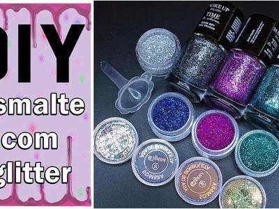 ✨ DIY - Esmalte gliterinado ✨ Glitter nail polish ✨