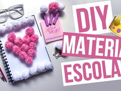 DIY Material Escolar POM POM   SCHOOL SUPPLIES   Mariana Emerim