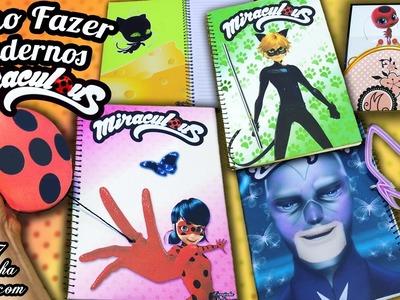 DIY Miraculous: Como Fazer capas de CADERNO da Ladybug, Cat Noir e Hawk Moth | VOLTA ÀS AULAS