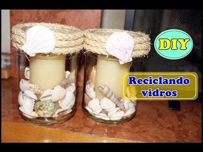 Duas ideias para reciclar vidros - DIY -Quase sessenta - Didi Tristão