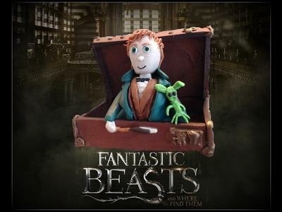 Fantastic Beasts.Monstros Fantásticos Newt Scamander em Fimo (in Polymer clay)