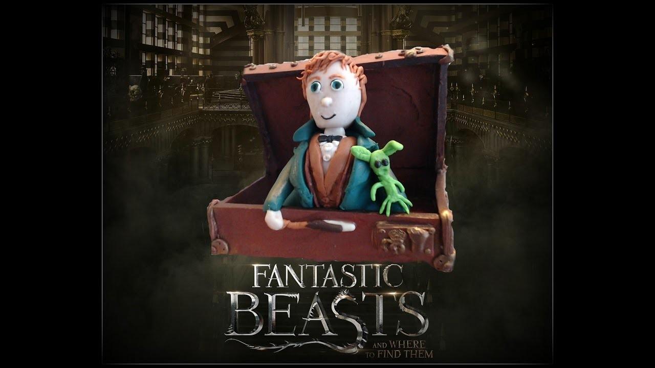 Fantastic Beasts.Monstros Fantásticos Newt Scamander em Fimo (in Polymer clay)