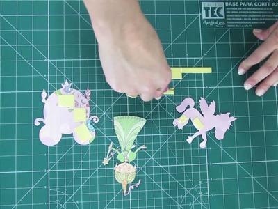 Lançamento - Kit folhas para Scrapbook - Princesas Delicadas. s2