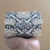Porta moedas tecido de algodão impermeabilização com termolina