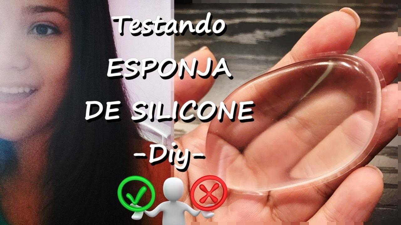 Testando ESPONJA DE SILICONE.DIY