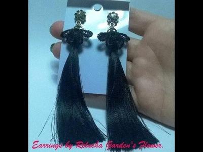 #97 - Brincos de Cetim. Lindo! Fácil ! DIY !  Earrings Satin.