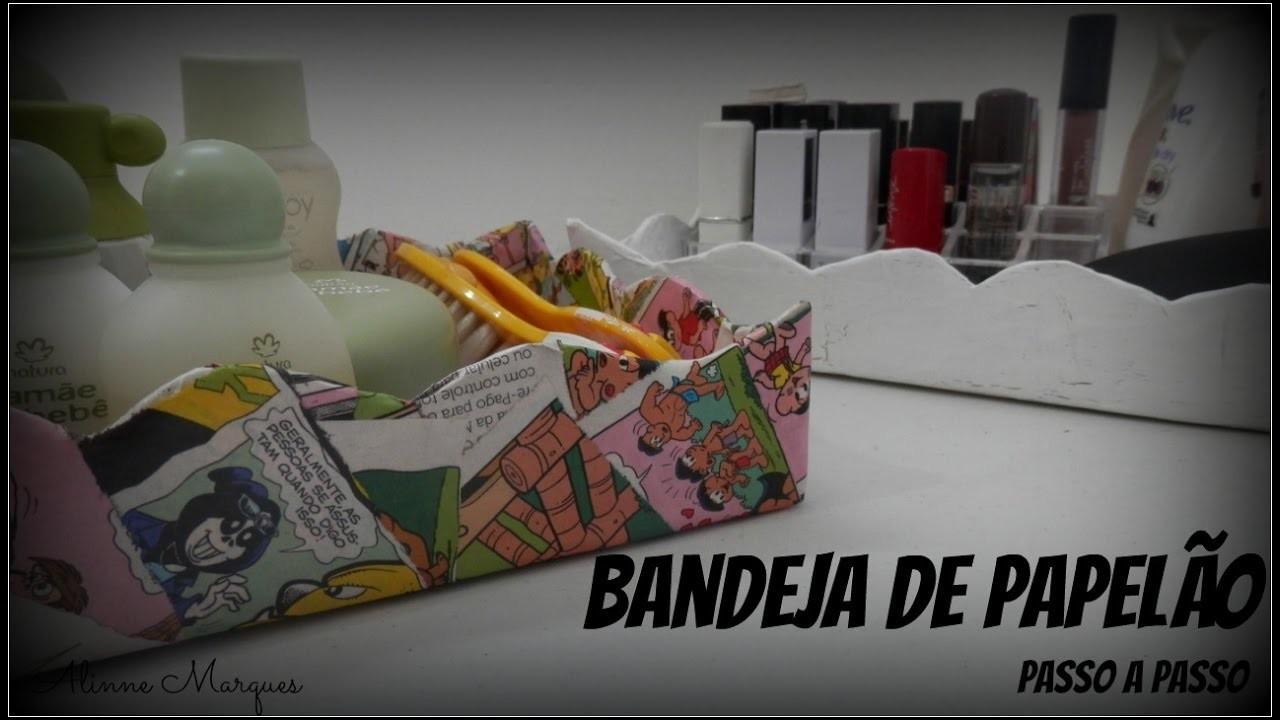 Aparador Bar Bechara ~ Bandeja de papel u00e3o Artesanato Passo a passo