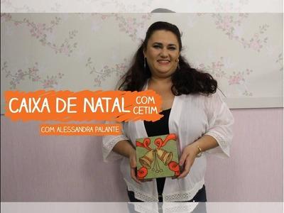 Caixa de Natal com Cetim com Alessandra Palante | Vitrine do Artesanato na TV