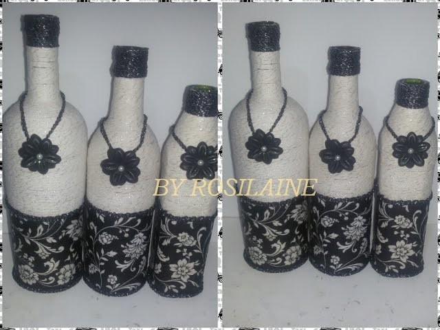 DIY. Como fazer garrafas decoradas